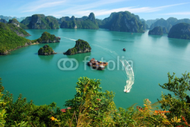 Naklejki Picturesque sea landscape. Ha Long Bay,  Vietnam