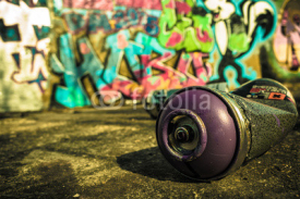 Naklejki Spray Can Used For Graffiti | Stock image