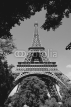 Naklejki Paris Eiffel Tower. Black and white.