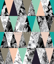 Fototapety tropical patchwork seamless background