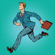 Fototapety Businessman running man