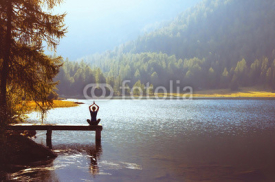 Fototapety wellbeing and healthy lifestyle concept, yoga background