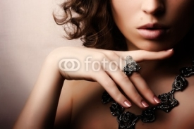 Fototapety Beautiful woman. Fashion art photo