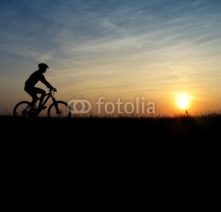 Fototapety mountain biker
