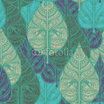 Naklejki Seamless pattern with leaves