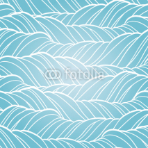 Fototapety Seamless wave abstract hand drawn pattern.