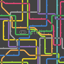 Fototapety Abstract color metro scheme