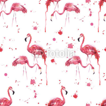 Fototapety Seamless flamingo bird pattern