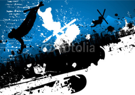 Naklejki Ski freestyle abstract background