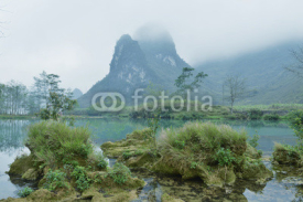 Fototapety Karst mountain landscape in Yangshuo Guilin, China