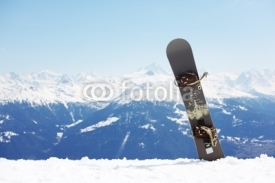 Naklejki snowboard on mountains