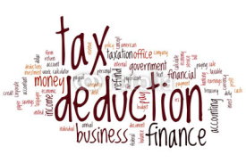 Fototapety Tax deduction word cloud