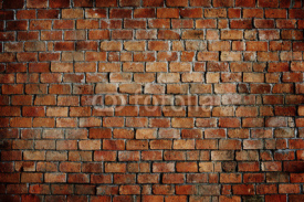 Naklejki Classic Beautiful Textured Brick Wall