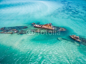 Obrazy i plakaty Shipwrecks on Moreton Island, Queensland, Australia