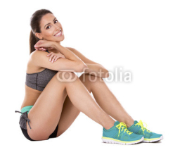 Fototapety fitness woman on white background