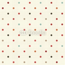 Fototapety colorful polka dot seamless pattern on fabric texture