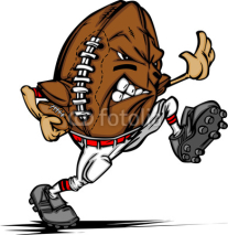 Naklejki American Football Ball Player Cartoon