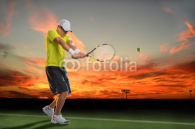 Fototapety Tennis Player at Sunset