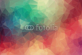 Naklejki Abstract 2D geometric colorful background