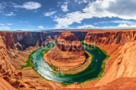 Naklejki panorama of Horseshoe Bend at Colorado River in Arizona