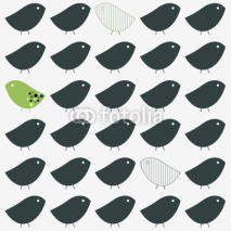 Fototapety Birds pattern