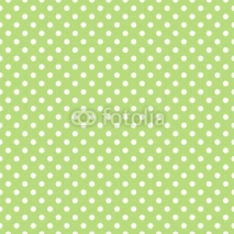 Naklejki Seamless vector pattern with polka dots on green background