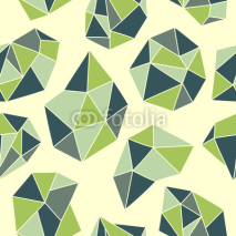Naklejki Seamless pattern with green crystals