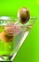 Naklejki martini with green olives