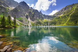 Naklejki Beautiful scenery of Tatra mountains and lake in Poland