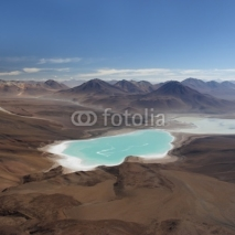 Fototapety Laguna Verde from the top of Licancabur