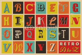 Naklejki Retro Letters Collection