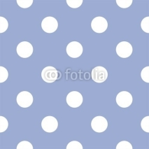 Obrazy i plakaty Retro seamless vector pattern with polka dots, blue background