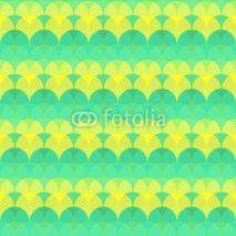 Obrazy i plakaty Seamless abstract geometric pattern green and yellow