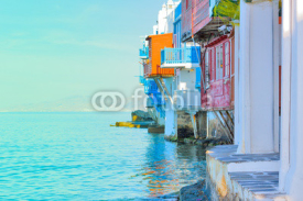 Obrazy i plakaty Greece, closeup on little Venice Mykonos capitol