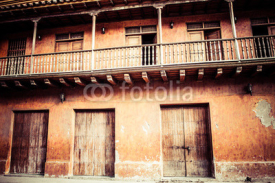 Fototapety Square of carriages, downtown of Cartagena de Indias (Colombia)