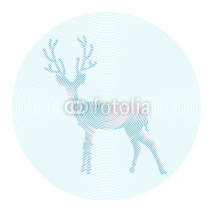 Fototapety Vector deer with horns - abstract illustration