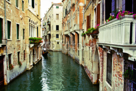 Fototapety Venice, Italy, Grand Canal and historic tenements