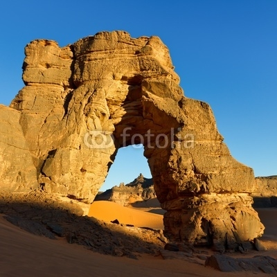 Forzhaga Arch - Natural Rock Arch - Akakus (Acacus) Mountains, S