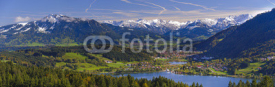 Naklejki panorama landscape and alps mountains in Bavaria