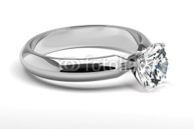 Fototapety Single Diamond Ring