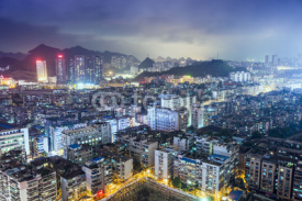 Naklejki Guiyang, China Cityscape at night