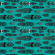 Naklejki feathers seamless pattern