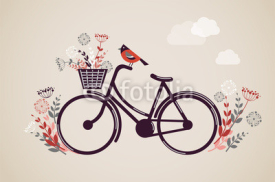 Obrazy i plakaty Vintage Retro Bicycle Background