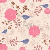 Fototapety Floral seamless pattern