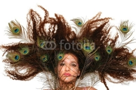 Fototapety crazy peacock hair