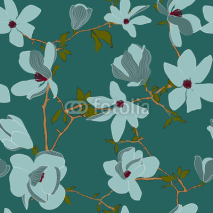 Obrazy i plakaty seamless vector pattern with flowers
