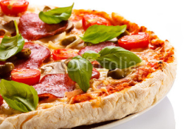 Fototapety Pizza on white background