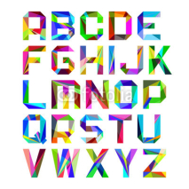 Fototapety Bright alphabet letters