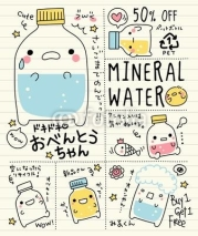 Obrazy i plakaty Cute Doodle Mineral Water