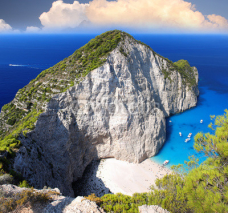 Obrazy i plakaty Greece coast with Navagio beach, Zakynthos Island